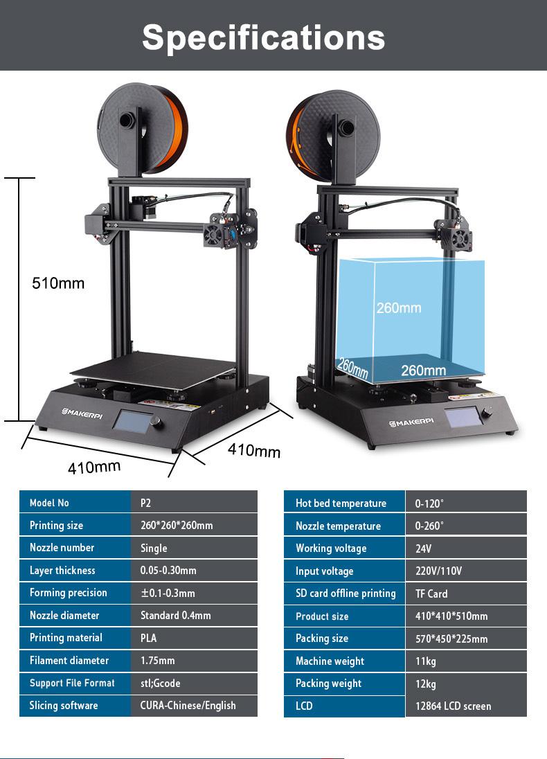 Imprimante 3D, imprimante 3d makerpi, services d'impression 3 D